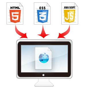 HTML5+CSS3+JSの図