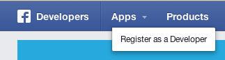 Facebook register developer