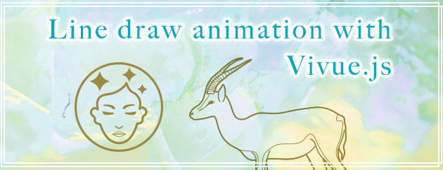 Line draw animation with Vivue.js